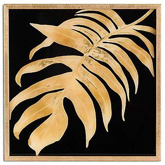 Hill Interiors Image feuille métallique dans le cadre d'or