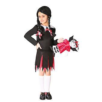 Meisjes woensdag Addams fancy dress kostuum