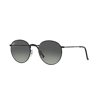 Ray-Ban Round Metal RB3447N 002/71 Black/Grey Gradient Sunglasses