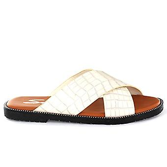 Seven7 Footwear Women's Marbella Slides Vegan Crocodile Leather Straps