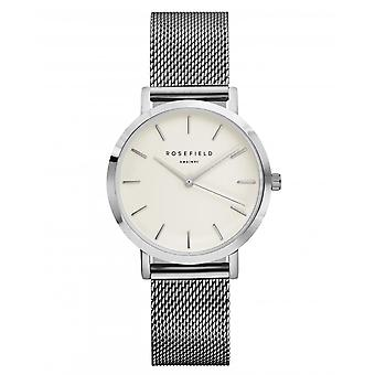 Rosefield Watch The Tribeca TWS-T52 - Milanese Silver and Women's Watch
