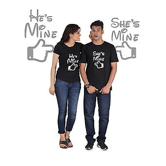 He is mine, she is mine (classic) classic couple t-shirt