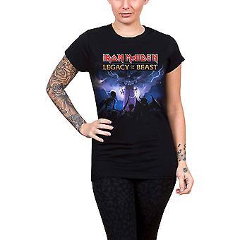 Iron Maiden T Shirt Legacy vilddjurets armén officiella Womens Skinny Fit svart