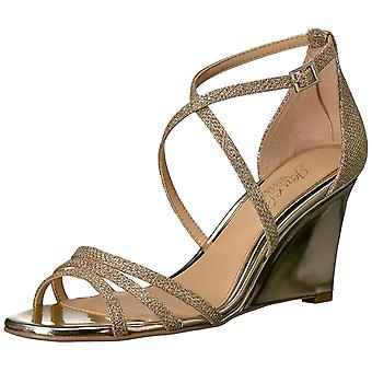 Jewel Badgley Mischka Women's Hunt Sandal, Gold, 10 Medium US
