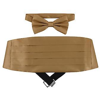 SILK Cumberbund & BowTie Solid Men's Cummerbund Bow Tie Set