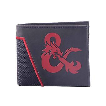 Dungeons And Dragons Wallet Ampersand Logo new Official Black Bifold