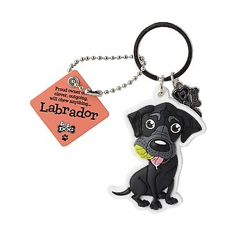 Wags & Whiskers Labrador Black Keyring