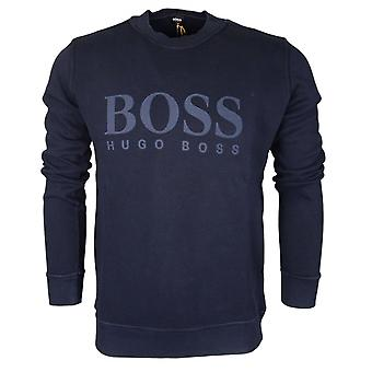 Hugo Boss de tejido Slim Fit sudadera azul marino