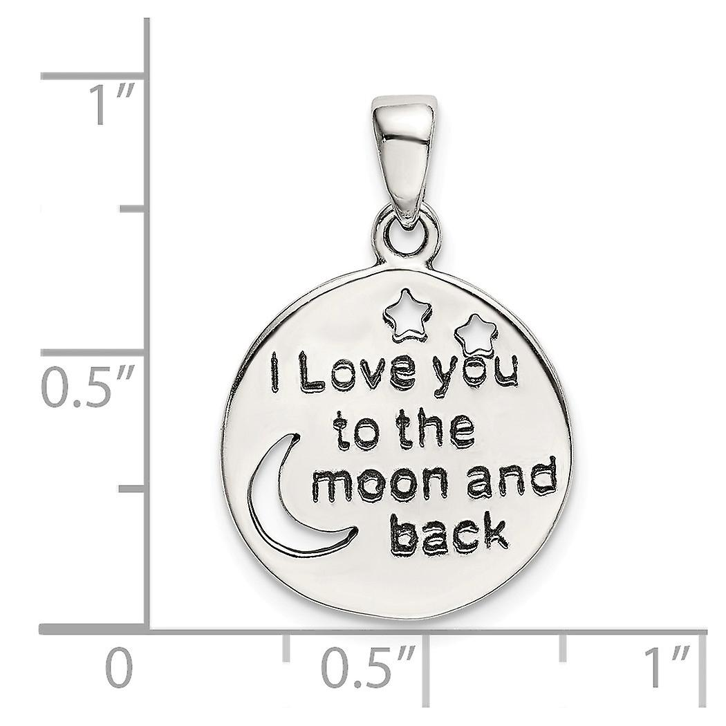 925 Sterling Silver Love You To The Celestial Moon Star and Moon Pendant Necklace Jewelry Gifts for Women