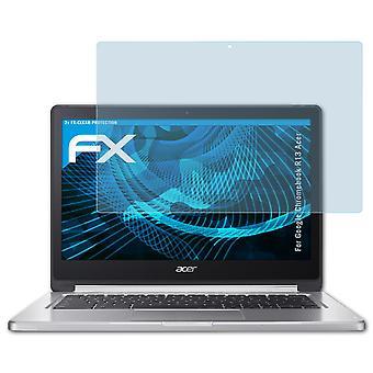 atFoliX Panzerfolie kompatibel mit Google Chromebook R13 Acer Glasfolie 9H Schutzpanzer
