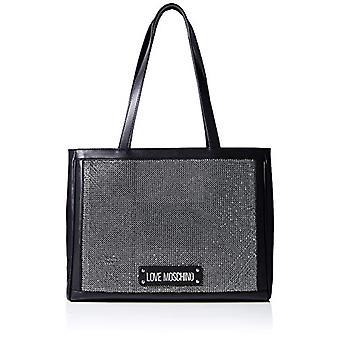 الحب موسكينو Jc4171pp1st حقيبة سوداء المرأة على ظهره (أسود) 19x27x39 سم (W x H x L)