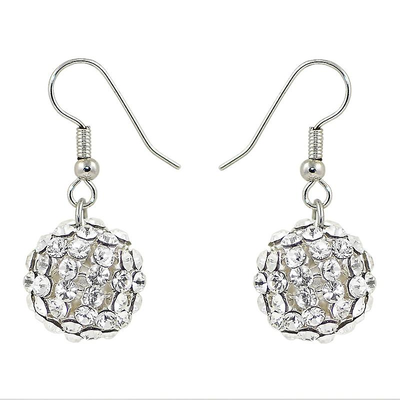 Crystal Mesh Ball Earrings EMB115.10