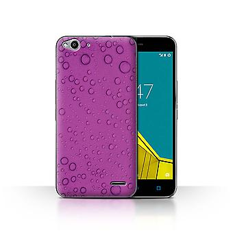 STUFF4 Case/Cover for Vodafone Smart Ultra 6/Purple/Water Droplets