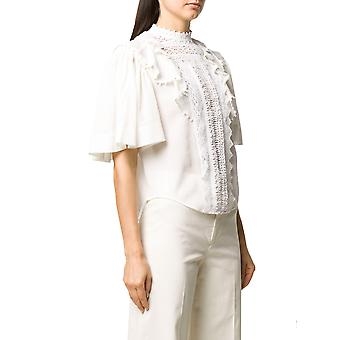 Isabel Marant ÉToile Ht162720p027i20wh Women's White Cotton Blouse