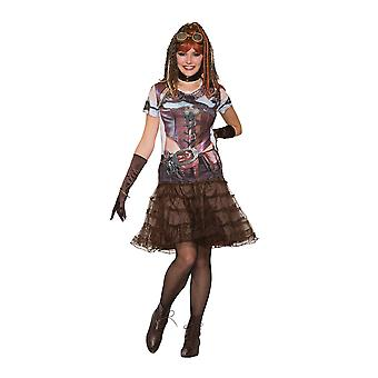 Bristol Novelty Donne/Signore Steampunk Gal 3D Tee Camicia