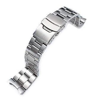 Strapcode se armbånd 22mm super 3d østers watch band for seiko dykker skx007/009/011 buet ende
