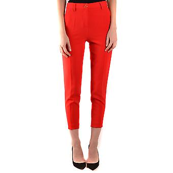 Boutique Moschino Ezbc170031 Women's Red Polyester Pants