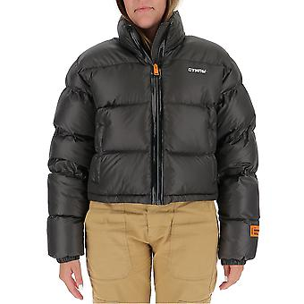 Heron Preston Hwed001e197860111601 Women's Grey Polyester Down Jacket