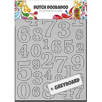 Dutch Doobadoo A6 Greyboard – Numbers