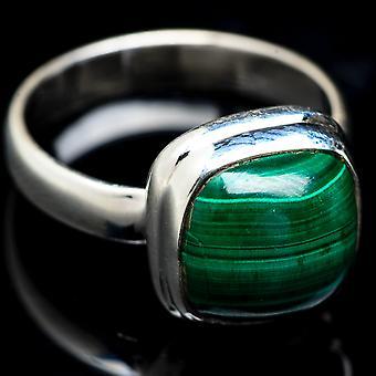 Malachite Ring Size 6.5 (925 Sterling Silver)  - Handmade Boho Vintage Jewelry RING3779