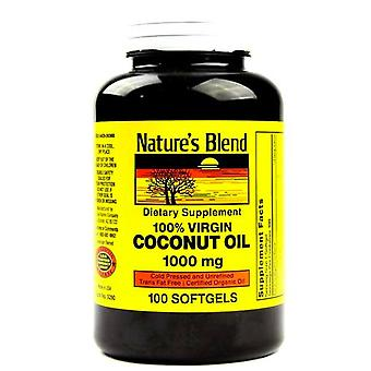 Nature's blend 100% virgin coconut oil, 1000 mg, softgels, 100 ea