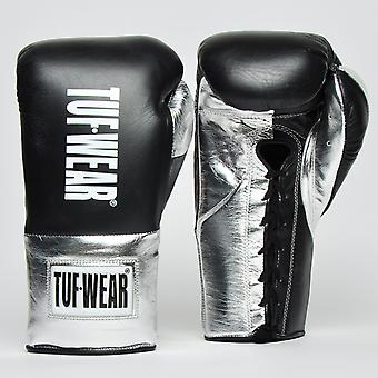 Tuf Wear Sabre Contest Gloves (British Board of Control Approved) Black / Silver
