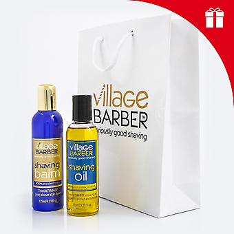 Premium shaving oil & balm gift set