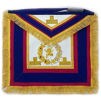 Past grand senior deacon dress apron with hermes emblem