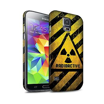 STUFF4 Matte Hard Back Snap-On Phone Case for Samsung Galaxy S5 Neo/G903/Radiation/Hazard Warning Signs