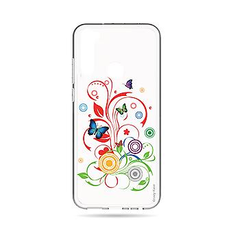 Hull For Xiaomi Redmi Note 8t Flexible Butterflies And Circles