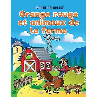 Livre de coloriage grange rouge et animaux de la ferme by Kids & Coloring Pages for