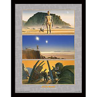 Star Wars Tatooine La Saga Comienza Pintura enmarcada 30 * 40cm