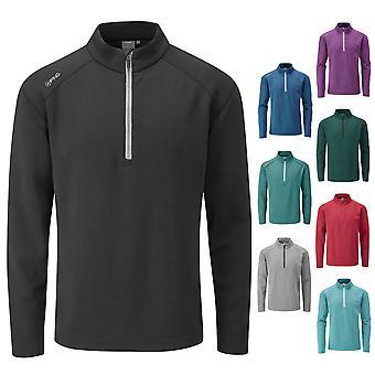 Ping Collection Mens Kelvin Midlayer Half Zip Top Golf Fleece Tech Pullover