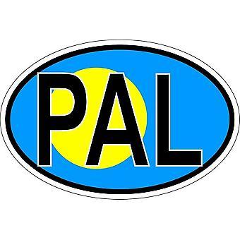 ملصقا البيضاوي البيضاوي رمز العلم البلد PAL palaos
