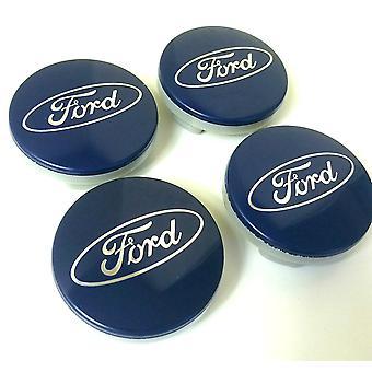 Blue Ford Wheel Centre Caps Hub Badges 54mm 4PCS For C-Max Galaxy Focus Mondeo Transit Ka Fiesta Kuga B-Max