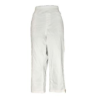 Belle by Kim Gravel Women's Plus Jeans Flexibelle Pull-On White A301822