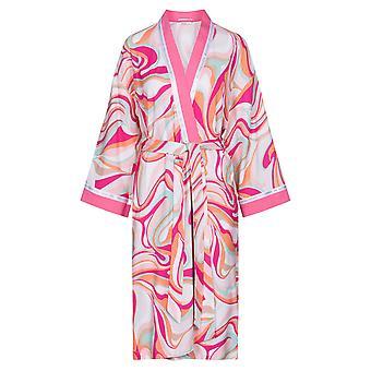 Féraud 3201088-10561 Women's Couture Pembe Çok Renkli Sabahlık
