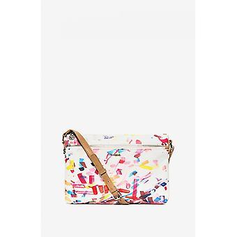 Desigual White Confetti Cross Body Bag