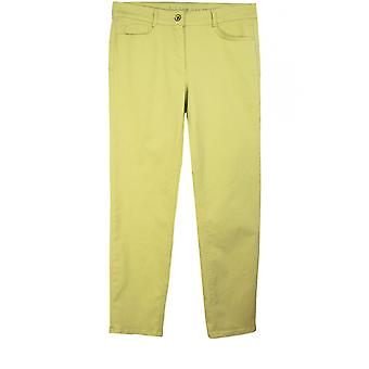 Bianca Lime Green Cropped Trousers