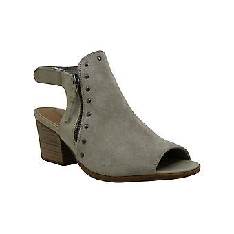 BareTraps Womens Ivella Suede Studded Wedge Sandals Black 10 Medium (B,M)