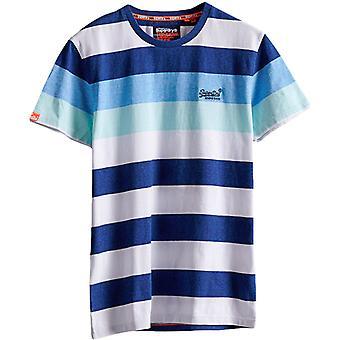 Superdry Hoop Stripe T-Shirt Blue 68