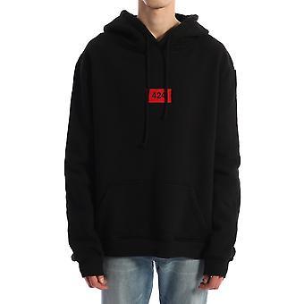 424 0065blk Men's Black Cotton Sweatshirt