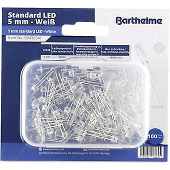 Barthelme LED set Cold white Circular 5 mm 14000 mcd 35 ° 20 mA 3 V