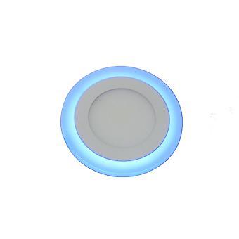 Jandei Roundlight okrągłe wpuszczone dwa kolory biały 6000oK i niebieski. 6W + 3W