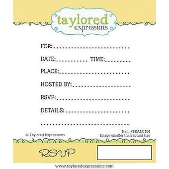 Taylored Expressions - Cling Stamp - RSVP Invitations