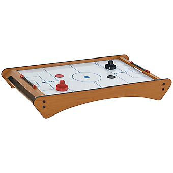HOMCOM 2.5FT Tabletop Air Hockey Game Table Wooden Portable Party Gaming Toy for Kids Children Adult