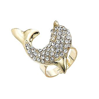 Intrigue Womens/Ladies Dolphin Ring