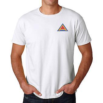 Amerikanske syvende armé brodert Logo - ringspunnet bomull T-skjorte