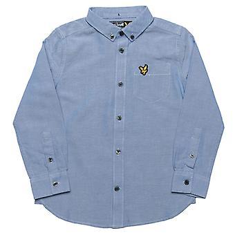 Boy's Lyle und Scott Junior Oxford Shirt in blau