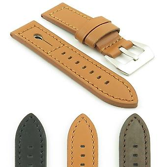 Strapsco dassari keyhole thick italian leather strap